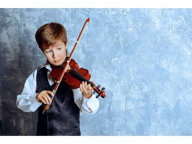 Boy with violin - california local newspapers
