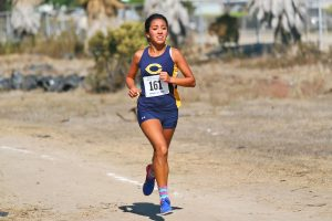 COC sophomore Jessica Ruiz posted a time of 18:53.1 on the 5K course to finish fourth overall at the Western State Conference Championships last Friday. Photo courtesy Mike Whitman/COC Sports