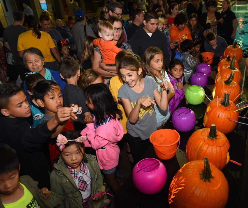 Those attending the contest vote for the winning pumpkin at the Santa Clarita Aquatic Center on Saturday, Oct. 22, 2016 Photo by Jayne Kamin-Oncea/For The Signal.