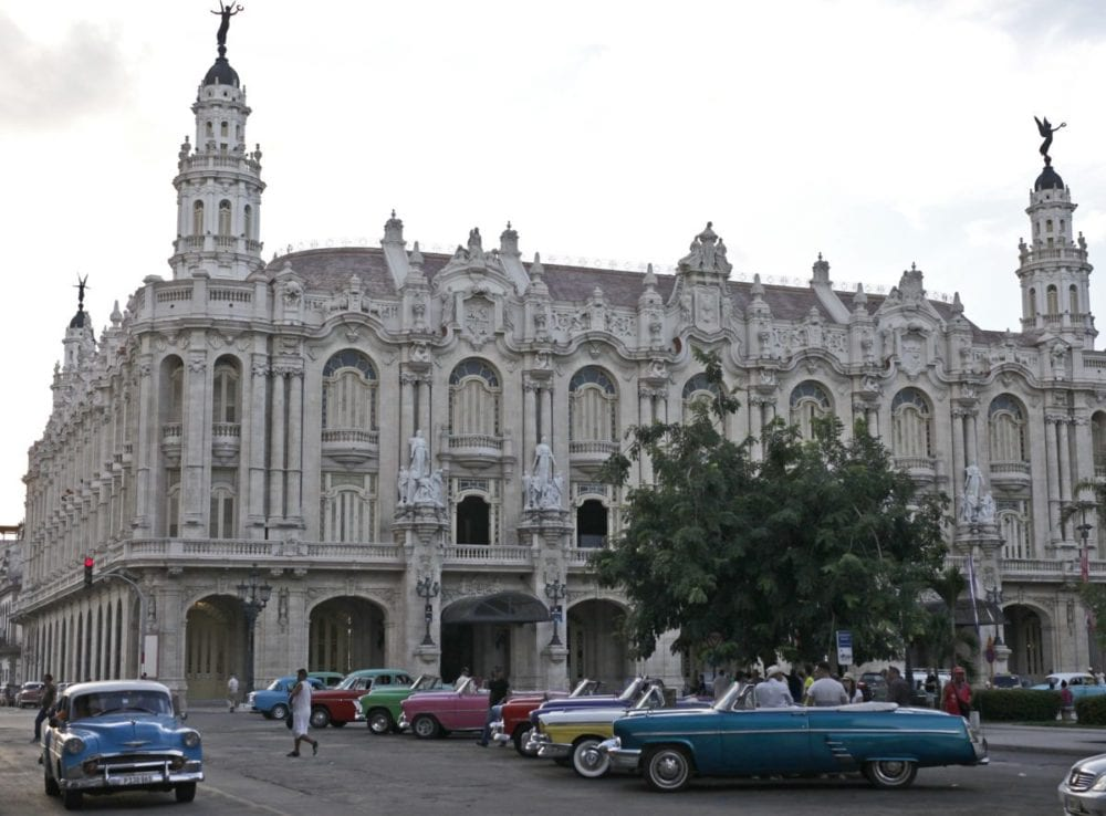 Havana is home to some of the most beautiful colonial architecture. Its coastal location and extreme poverty, however, means that most buildings are not maintained. Government buildings, like this one, are well-maintained. Katharine Lotze/Signal