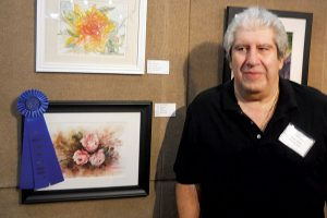 Winner of the Gold in the Watercolor category is Ramsin Yefima with his piece called Crimson Hearts. Courtesy photo
