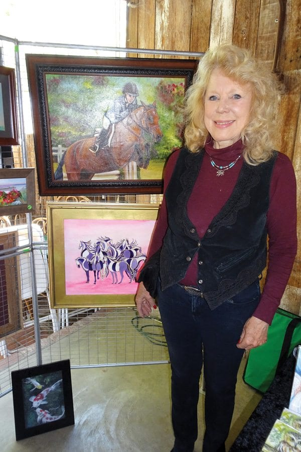 Paintings by Pat Duggan. Photo by Kathleen Larsen