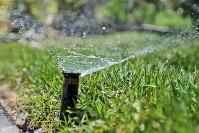 Yard worker suffers electrical shock working on sprinkler system
