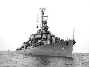 RIchard Roelofs' destroyer, the USS David W. Taylor DD551. Courtesy photo.