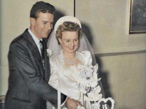 Richard and June Roelofs' wedding photo. Courtesy photo.