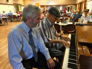 Richard Roelofs with Senior Center Executive Director, Kevin MacDonald. Courtesy photo.