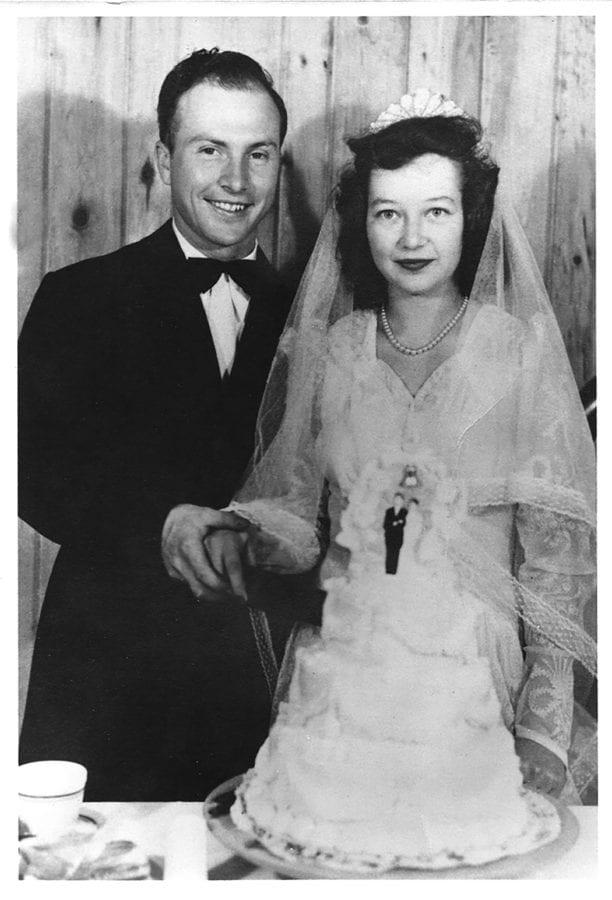 Paul and Shirley's wedding photo August 30, 1947.