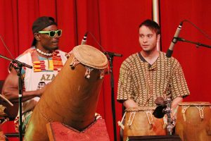 Aza, the traditional African ensemble, performs at the concert, African Beats: From Ghana to L.A., a Tribute to Steven Lavine at the Wild Beast music pavilion at CalArts on Saturday, Oct. 15, 2016. Nikolas Samuels/The Signal