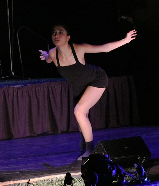 Carissa Songhorian performs Pandora's Box at the concert, African Beats: From Ghana to L.A., a Tribute to Steven Lavine, at CalArts on Saturday. Nikolas Samuels/The Signal