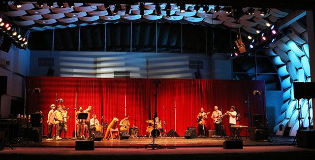 Azoli performs at the concert, African Beats: From Ghana to L.A., a Tribute to Steven Lavine at the Wild Beast music pavilion at CalArts on Saturday. Nikolas Samuels/The Signal