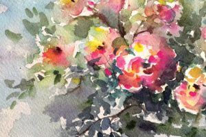 'Flowers for Love,' watercolor by Zony Gordon. Courtesy photo