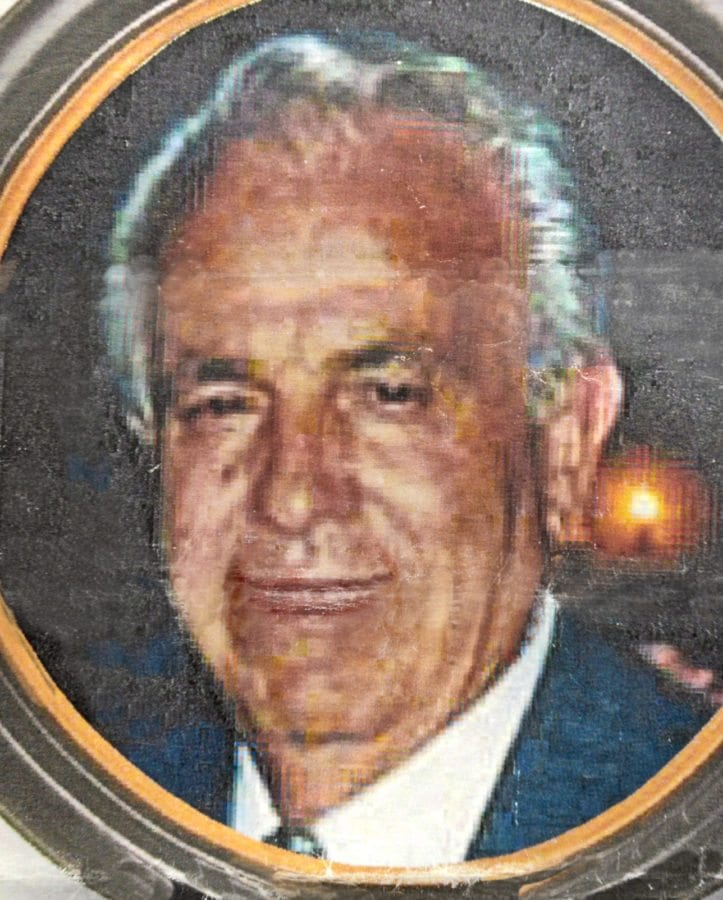 Photo of Ed Politelli in life as it appeared on the Mass of Christian Burial program that the family distributed for his funeral in 2006.