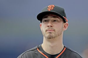 San Francisco Giants catcher Trevor Brown. (AP Photo/Gregory Bull)