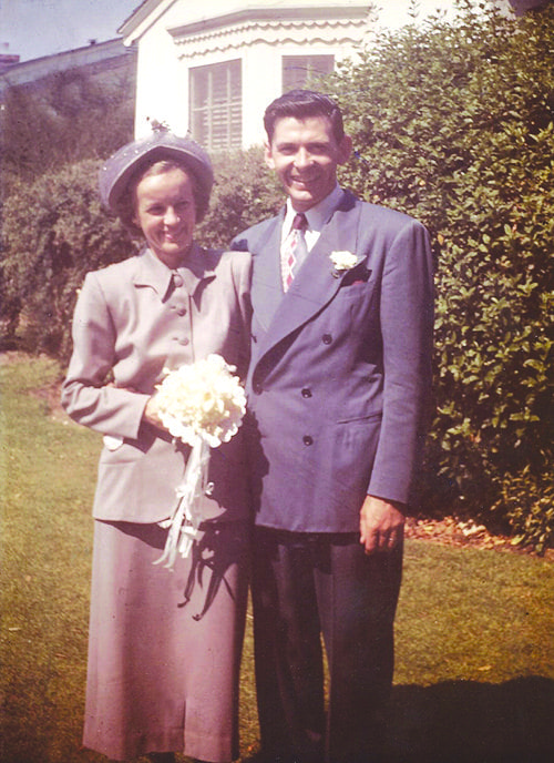 John and Amy MacLachlan's wedding photo.  August 1, 1948. Courtesy photo.