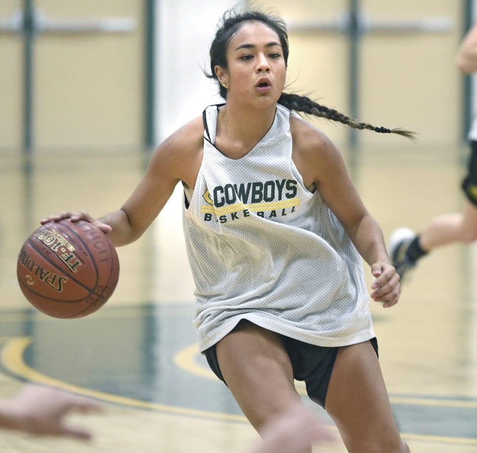 Angelina Puno (5) of Canyon practices on Tuesday. Dan Watson/The Signal