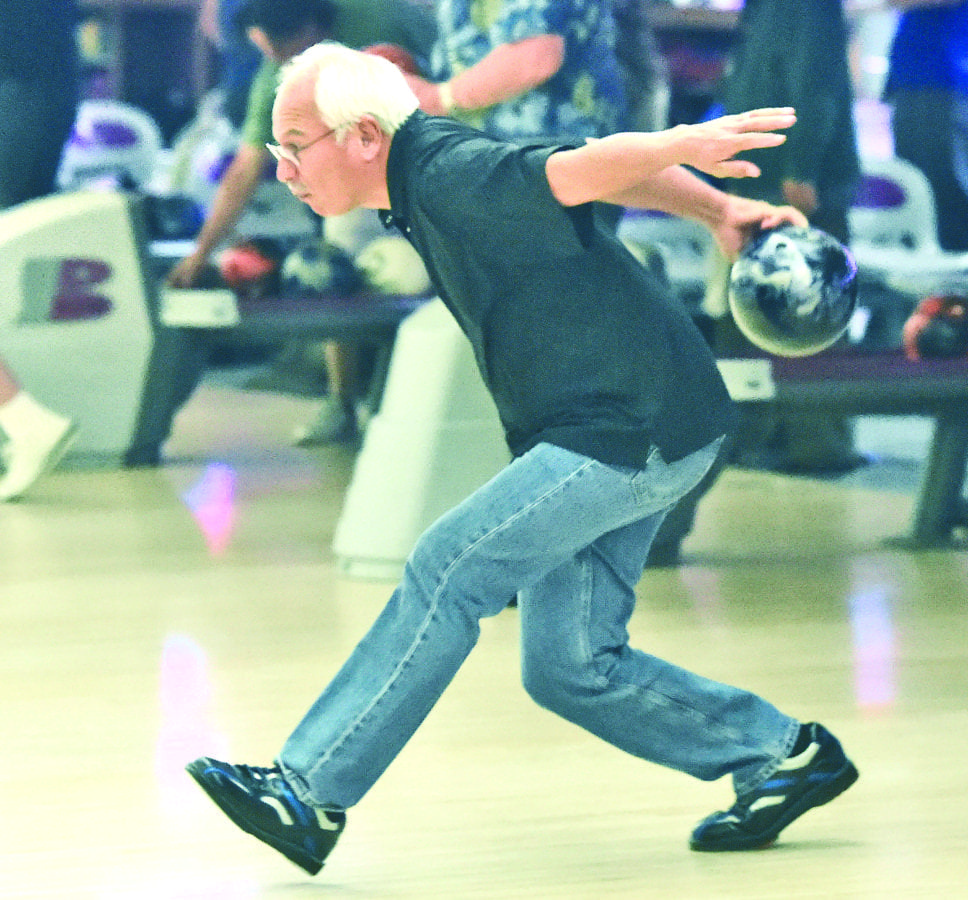 Alex Hernandez bowls during the 2016 North Los Angeles County United States Bowling Congress Senior Tournament held at Valencia Lanes in Newhall on Saturday. Dan Watson/The Signal