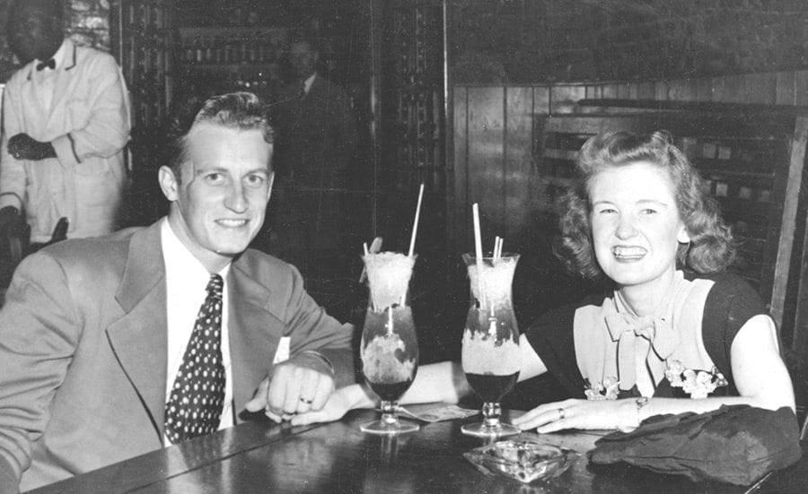 Henry and Bettie James on honeymoon. Courtesy photo.