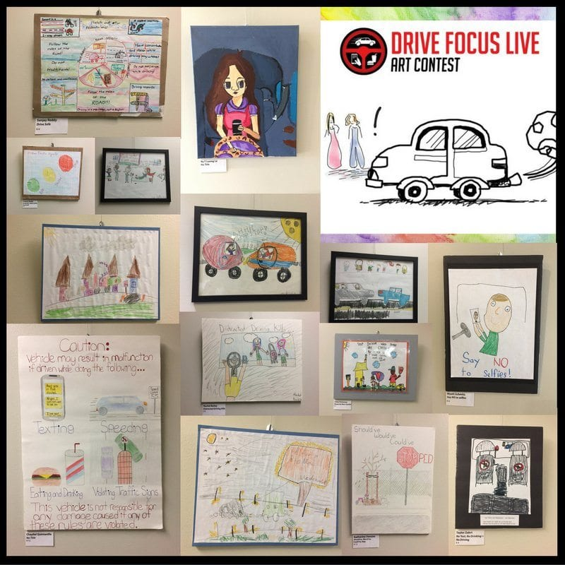 """Excerpts of artwork featured in the city's """"Drive Focus Live"""" art exhibit at City Hall.   Courtesy photo"""
