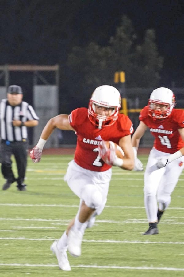 Jacob Moss broke the SCCS single-game record for receiving yards Friday. Courtesy photo