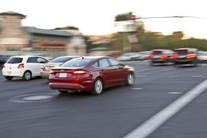 Traffic moves through the intersection of Soledad Canyon Road and Whites Canyon Road on Monday. Katharine Lotze/Signal