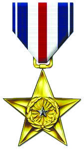 John P. Edwards' Silver Star. Courtesy photo.