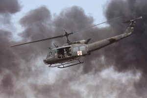John P. Edwards Huey Med-evac Chopper. Courtesy photo.
