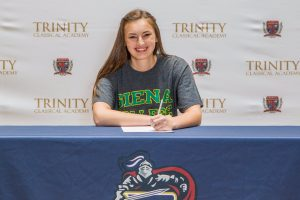 Trinity Classical Academy's Jessica Eblin signs with Siena College of New York. Courtesy photo