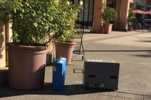 Ballot boxes left outside polling station at Wolf Creek Restaurant. courtesy photo.