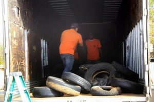 Discarded tires c