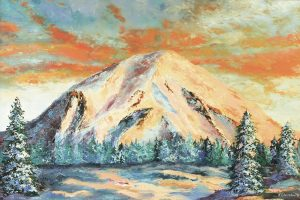 Mt. St. Helens, oil painting by Jackie Cleveland. Courtesy photo