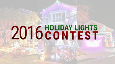 2016 Holiday Lights Contest winners