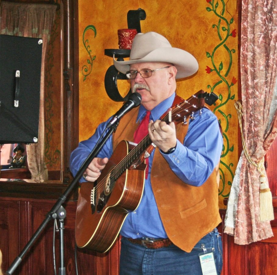 John Bergstrom performing at the Cowboy Music Festival in Tombstone, Ariz.  Courtesy of John Bergstrom.