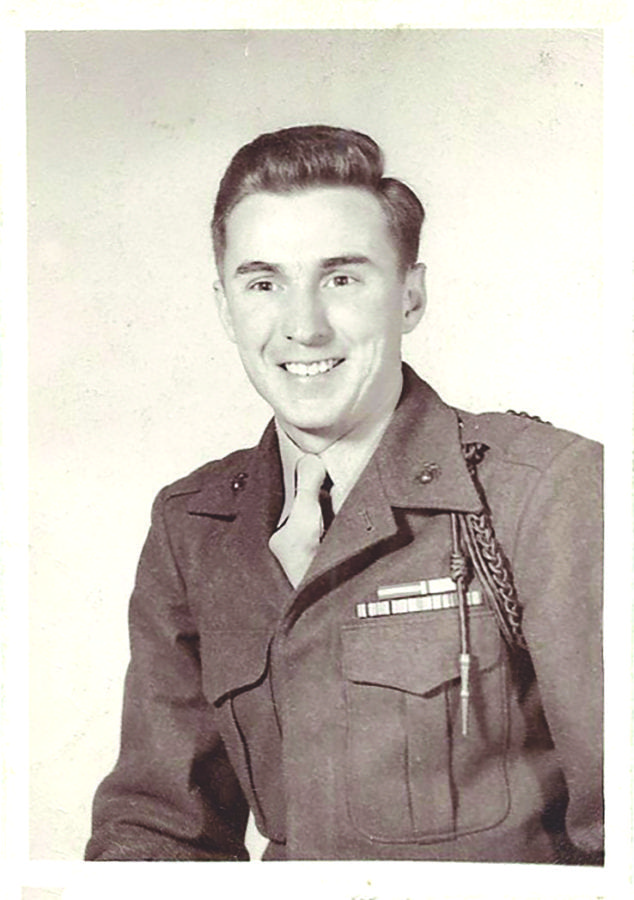 Ted Kircher's military portrait December 4, 1950. Courtesy photo.