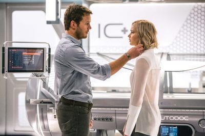 'Passengers' contains an  off-putting, ridiculous storyline