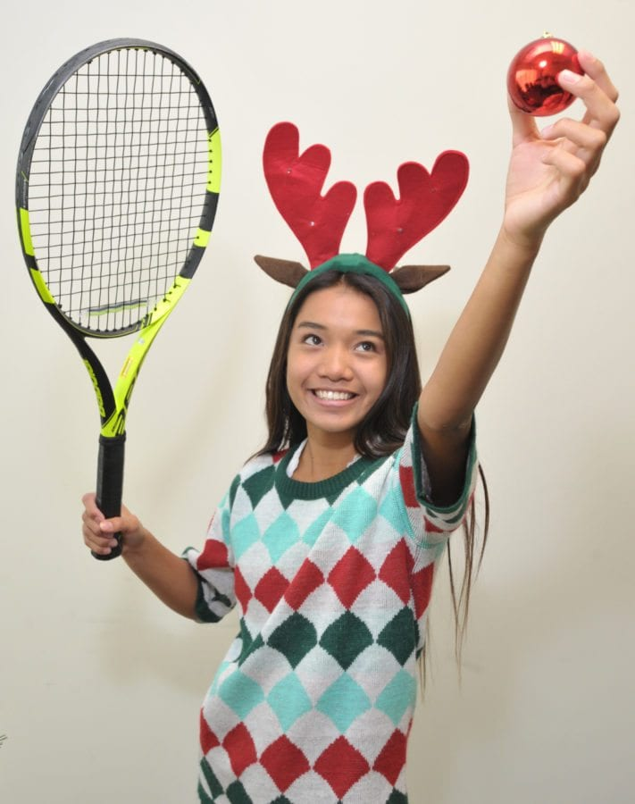 ALL SCV Single Tennis - Amanda Tabanera of Valencia. Dan Watson/ The Signal
