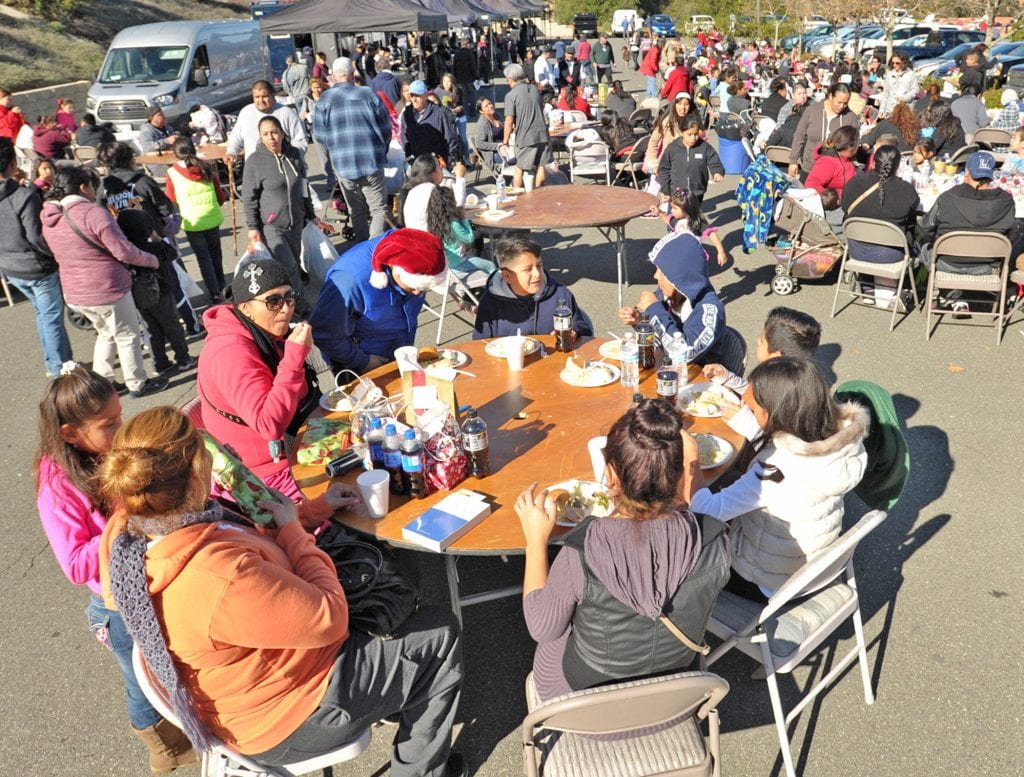 Hundreds of attendees were served a meal at the Festividad for Christ community event held at Faith Community Church in Newhall on Saturday. Dan Watson/The Signal