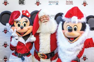 Mickey and Minnie on the red carpet with Santa by Photo PB Sunde