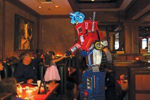 Optimus Prime meets a fan. Photo by PB Sunde