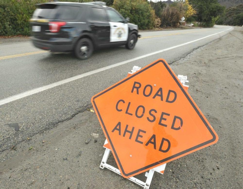 Sand Canyon Road at Placerita Canyon road. photo by Dan Watson, The Signal.