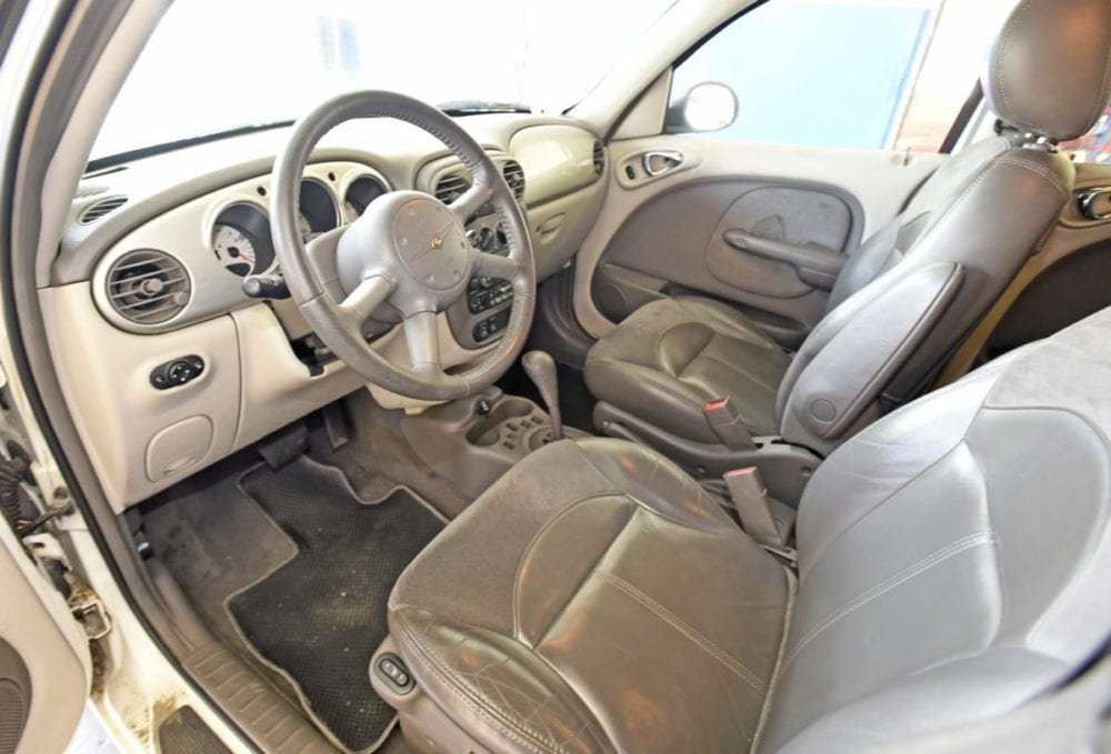 The leather interior of the 2002 PT Cruiser that will be given away on December 22nd. Dan Watson/The Signal