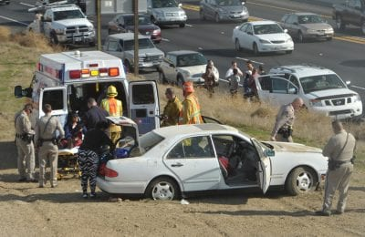 Freeway spin-out sends 1 to the hospital
