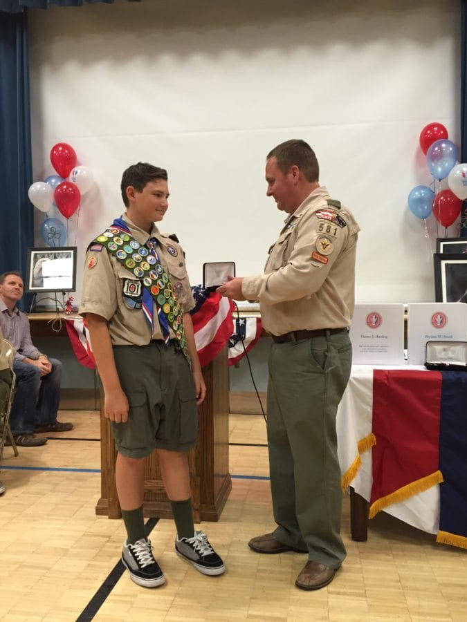 Courtesy photo During his journey to 137 merit badges Olsen earned the Eagle Scout honor, the highest rank in Scouting, and the Hornaday award, which is an award for conservation in nature in a Scouting project.