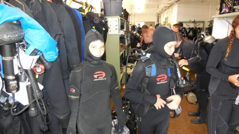 Courtesy photo Jake Olsen prepares for a scuba certification course, a class he had to take to earn his Scuba Diving merit badge.