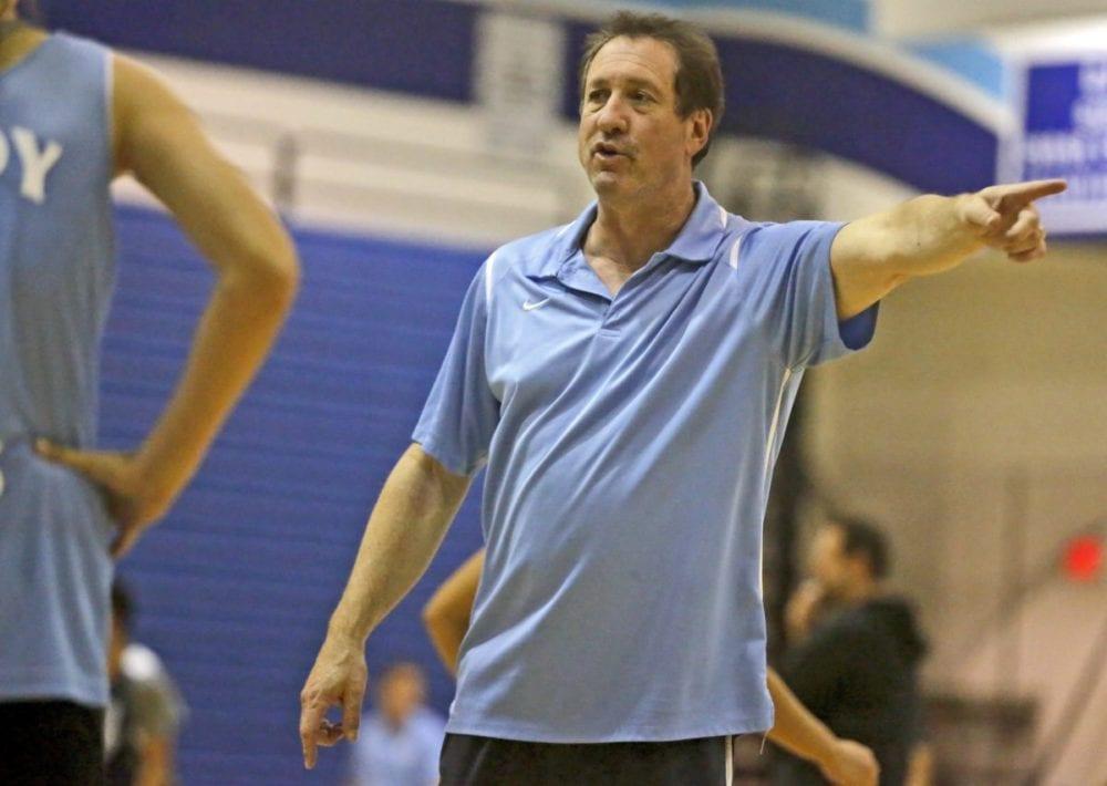 Saugus girls basketball head coach Jason Conn coaches at practice on Nov. 29. Katharine Lotze/Signal