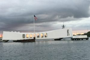 The USS Arizona Memorial at Pearl Harbor, photo by Rill Reynolds, The Signal.