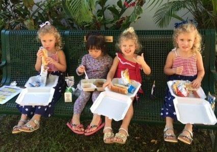 School kids at Navy Hale Keike School in Hawaii. photo by Bill Reynolds, The Signal.