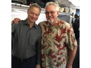 Bill Reynolds meets Actor Gary Sinise while on his trip to Pearl Harbor with the Greatest Generations Foundation.