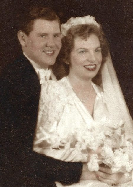 Courtesy photo Ervin and Shirley Thuerk wedding day April 19, 1947.