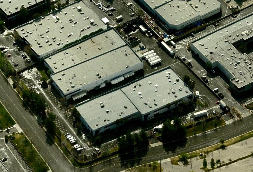 Aerial view of Valencia Studios.