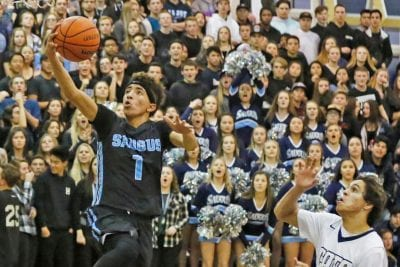 Saugus boys hoops defeats West Ranch for second road win